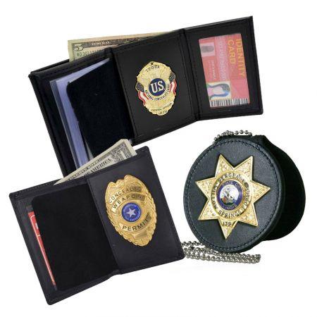 Badge Wallets - Customized Design Metal Badge Wallet