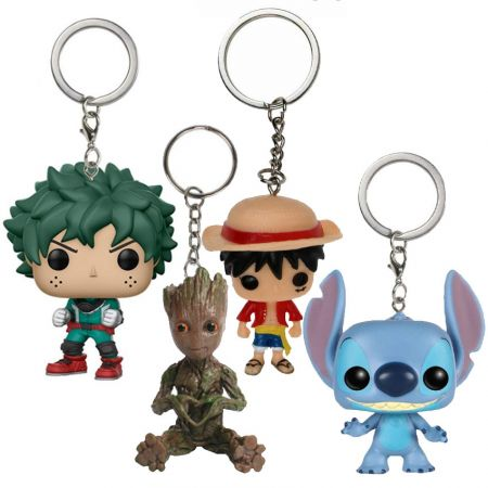 Soft PVC Miniature Keychains - Custom Soft PVC Action Figure Keychains