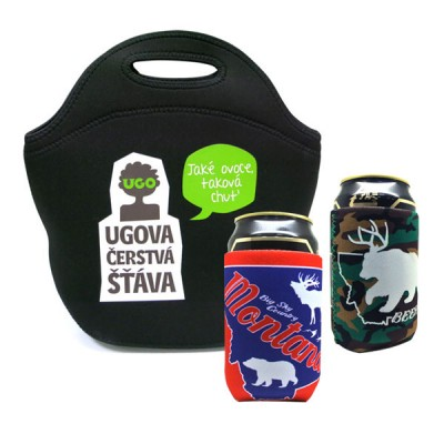 Neoprene Products - Neoprene Lunch Tote and Can Coolers
