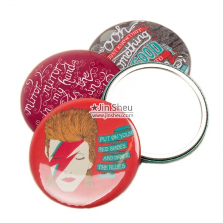 Button Badges with Mirrors - Button Badges with Mirrors