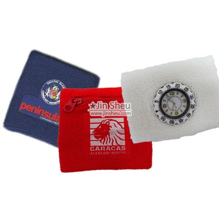 Special Wristbands - Sweatband Watch & Zipper Pocket Sweatband