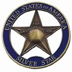 Spin Cast Zinc Alloy Coins - USA Silver Star Souvenir Coin