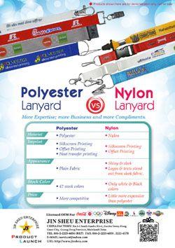 Polyester Lanyard v.s. Nylon Lanyard