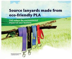 Source lanyards made from eco-friendly PLA