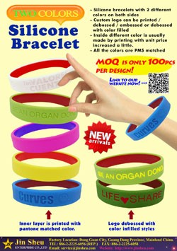 Two Colors Silicone Wristbands