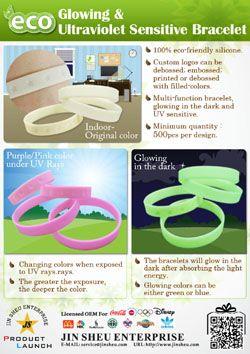 glowing & ultraviolet sensitive bracelet