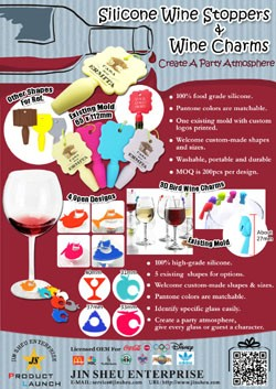 Silicone Wine Stoppers & Wine Charms
