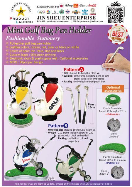 Mini Golf Bag Pen Holder