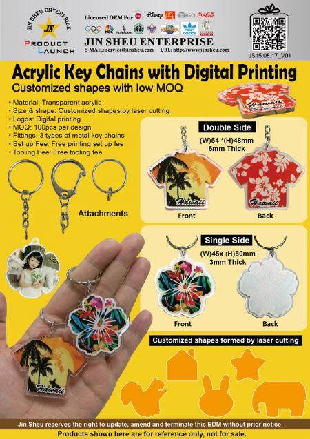 Custom Design Acrylic Keychains