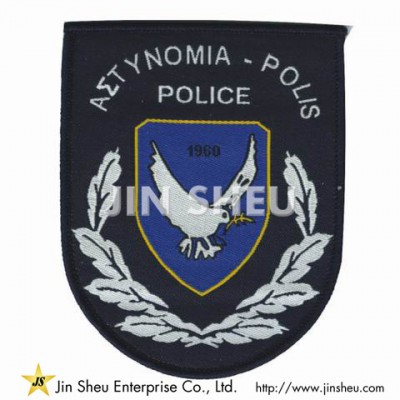Custom Police Woven Patch - Garment Woven Patches