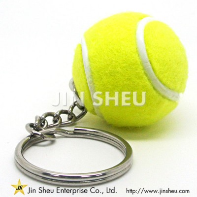 Ball Key Chain with Tennis Ball - Tennis Keychains