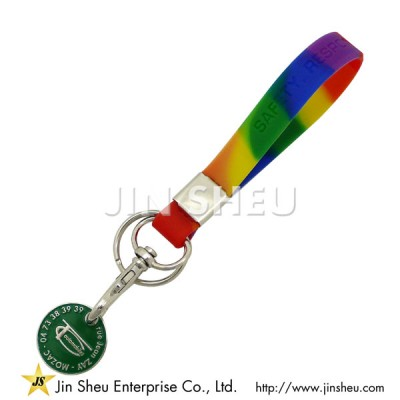 Silicone Caddy Coin Keyring - Silicone Caddy Coin Keyring