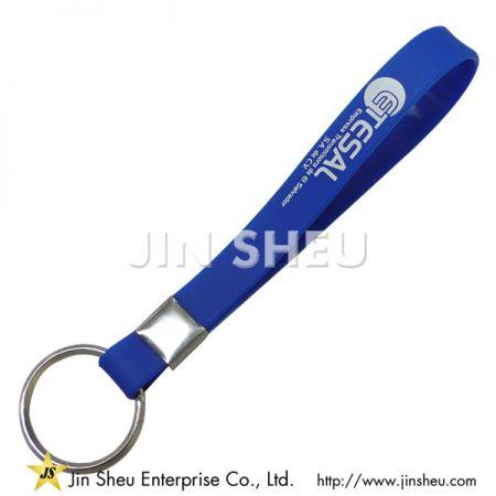 Silicone Keyrings - Silicone Wristband Keyring