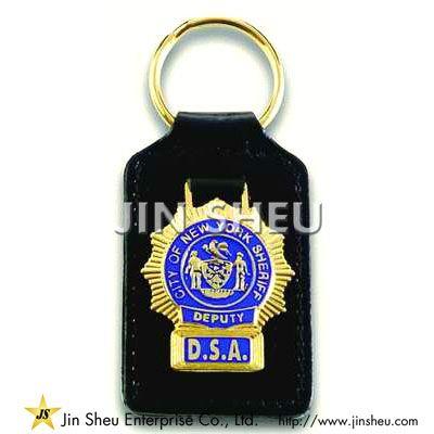 Custom Made Leather Key Fobs