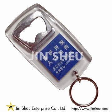 Acrylic Keychain with Bottle Opener