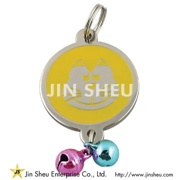 Pet ID Tag with Bells