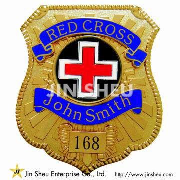 Red Cross Badges - Custom Red Cross Police Badges