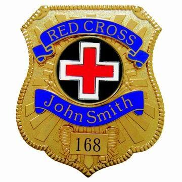 Red Cross Badges - Custom Red Cross Police Badges