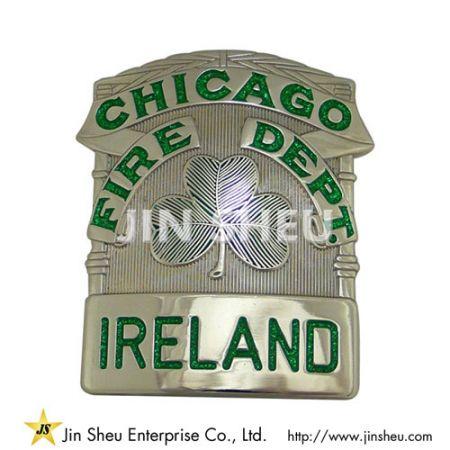Chicago Fire Department Ireland Police Badges - Custom Metal Police Badges