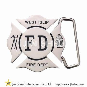 Silver Firefighting Belt Buckles
