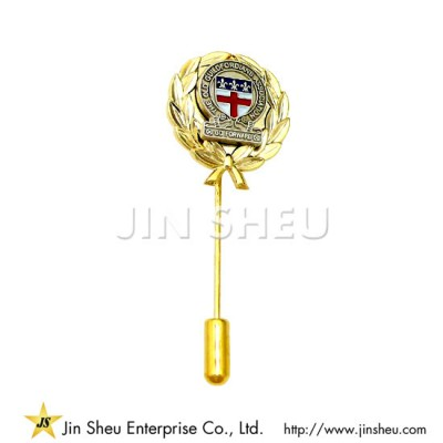 Gold Plated Stick Pin - Custom jewelry 925 sterling silver souvenirs