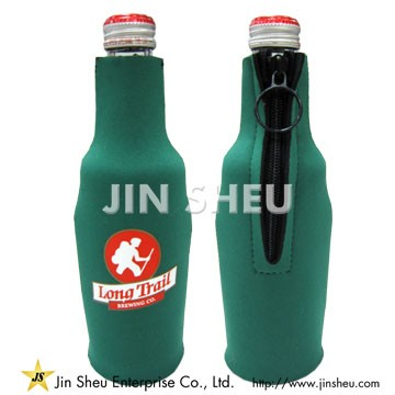 Neoprene Bottle Cooler with Zipper - Neoprene Cooler Factory