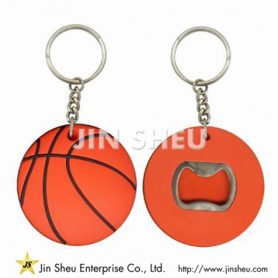 Basketball Soft PVC Beer Bottle Opener Keychain - Basketball Soft PVC Beer Bottle Opener Keychain