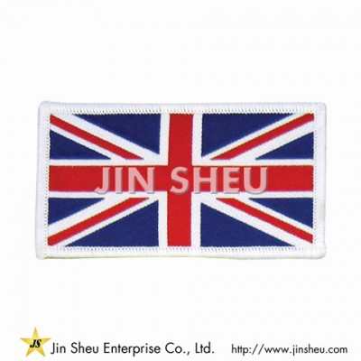 Country Flag Woven Patches - Union Jack Iron on Woven Cloth Patch