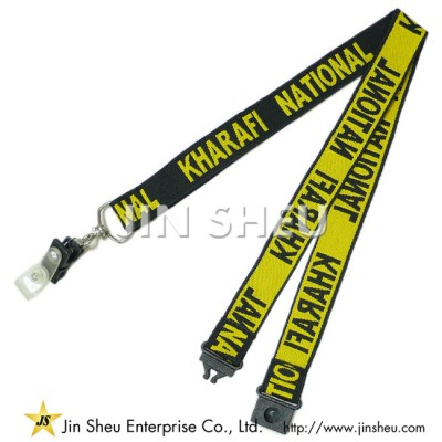 Woven Lanyards with Card Holers