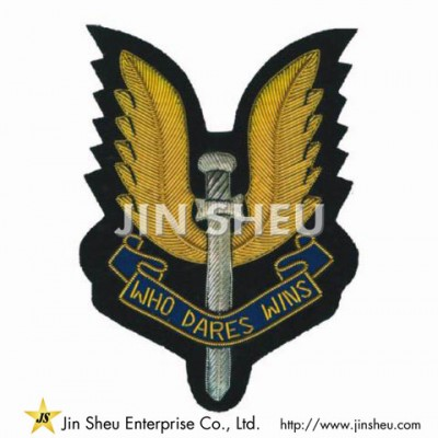 Hand Embroidered Bullion Patches - Hand Embroidered Bullion Patches