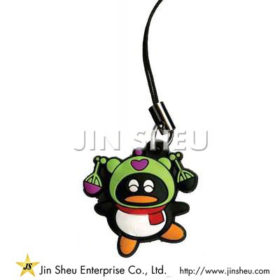 Penguin Mobile Phone Charms