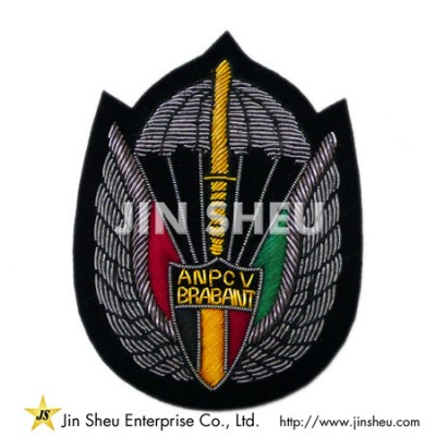 Personalized Bullion Embroidery Patch - Personalized Bullion Embroidery Patch