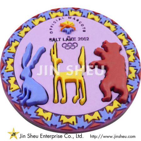 Olympic Soft PVC Lapel Pins - Olympic Soft PVC Lapel Pins