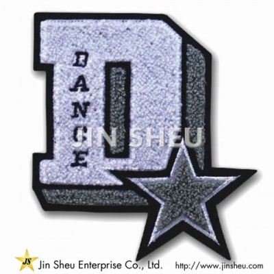 Fabric Letter Chenille Patches - Fabric Letter Chenille Patches