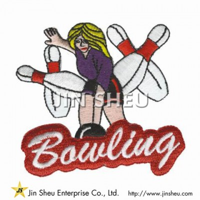Bowling Embroidery Patches