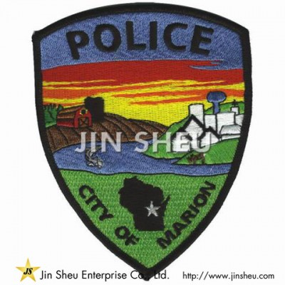 Embroidery Police Badges