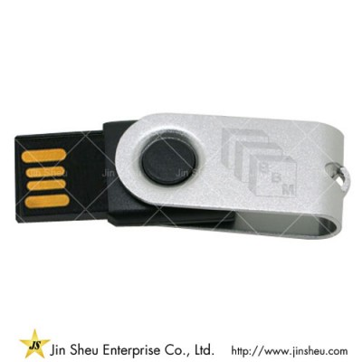 USB Flashdrive Twist - A data storage device that includes flash memory with an integrated USB interface.