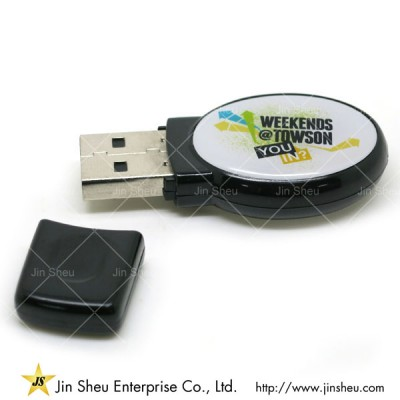 USB Flash Drive - A data storage device that includes flash memory with an integrated USB interface.