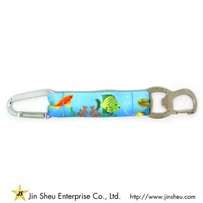 Custom Colored Printing Carabiner Hook Keychain Snap Clip
