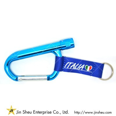 Promotional Carabiner LED Light Keychain