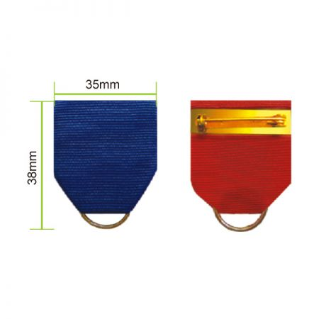Army Ribbon Drape - Each ribbon drape has a pin back to attach to uniforms and a ring to hold medals.