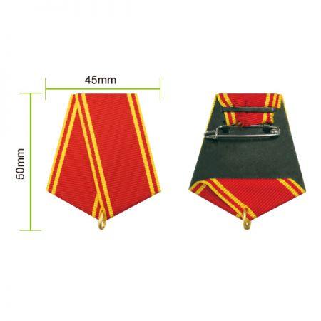 Chest Ribbon Drapes for Military Medals - Each ribbon drape has a pin back to attach to uniforms and a ring to hold medals.