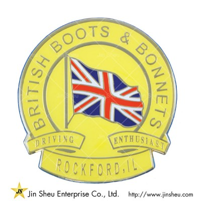 British Flag Car Emblem - British Flag Car Emblem