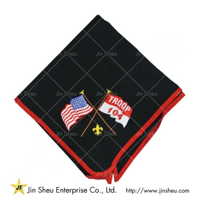 Neckerchiefs With Embroidery - Custom Logos Neckerchiefs