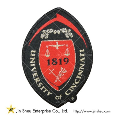 Woven Patches With Metallic Silver - Woven Patches With Metallic Silver