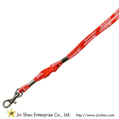 Cord Lanyard with Woven Logo