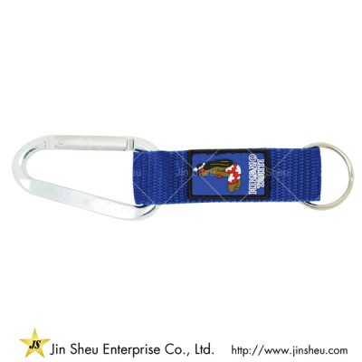 Carabiner Short Lanyards With Soft PVC Labels