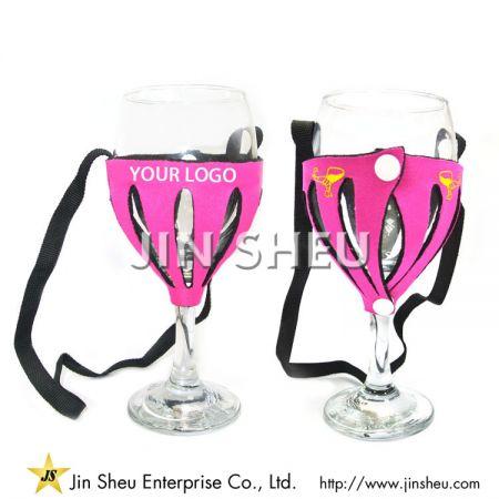 Neoprene Wine Glass Insulator - Neoprene Wine Glass Insulator