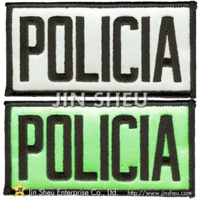 Police Glow In The Dark Patches