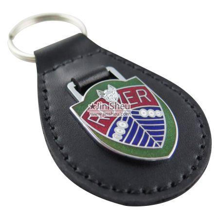 Leather Tear Drop Key Fobs - Tear Drop Shape Leather Key Fobs